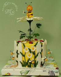 buzzing beautiful cakes with bees cakecentral com