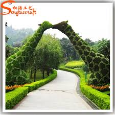 topiary trees factory wholesale cheap outdoor artificial topiary trees animal