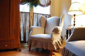 Linen Wingback Chair Design Ideas Furniture Gorgeous Linen Slipcover For Wingback Chair With New