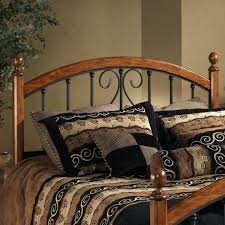 Wood And Iron Bedroom Furniture Wood And Iron Headboard Metal Poster Bed In Brushed Bronze Finish