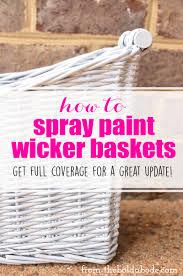 spray paint wicker basket business card size net