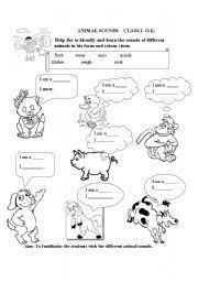 english teaching worksheets animal sounds