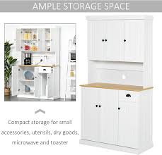 homcom 71 wood kitchen pantry storage cabinet homcom 71 wood kitchen pantry storage cabinet microwave oven stand with storage white oak grain