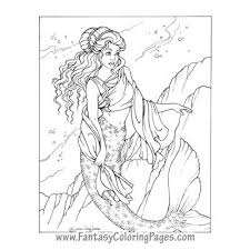 fairy mermaid coloring pages fantasy coloring pages u2013 world u0027s best coloring pages mermaids
