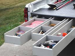 Slide Out Truck Bed Tool Boxes How To Install A Truck Bed Storage System Truck Bed Storage
