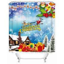 Discount Christmas Shower Curtains Aliexpress Com Buy Christmas Shower Curtains Waterproof 3d Print