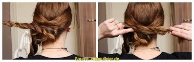 Hochsteckfrisuren Mittellange Haare Einfach by Oben Hochsteckfrisur Lange Haare Einfach Deltaclic