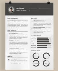 Resume Template Html Awesome Resume Templates 40 Best Free Resume Templates 2017 Psd
