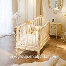 Baby Bed Crib Wy108 Luxury Golden Baby Bed Crib Wooden Design Royal Baby