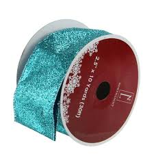 ribbon spools pack of 12 shimmering teal solid wired christmas craft ribbon