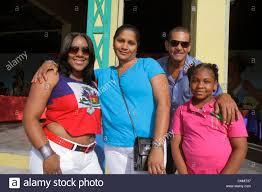 Black Flag Family Miami Florida Little Haiti Caribbean Market Place Carnival Stock