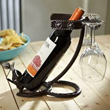 unique wine rack metal wine bottle holder black finish two wine