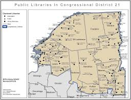 New York Map Districts by Libraries In New York Congressional District 21 Library