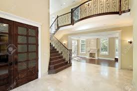 Foyer by Foyer In New Construction Home With Balcony Stock Photo Picture