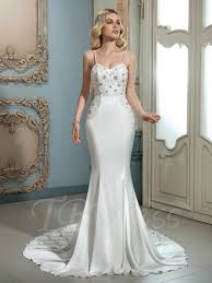 spaghetti wedding dress spaghetti lace beading court mermaid wedding dress