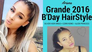 hair ring silver ring cornrows grande princess hairstyle hair