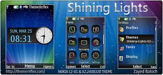 nokia x2 themes free download mobile9 shining lights theme for nokia x2 00 c2 01 240 320 themereflex