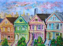 painted ladies in san francisco victorian houses full house