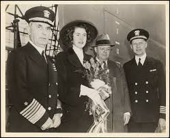fleet admiral leahy attends launching of dd turner with william s