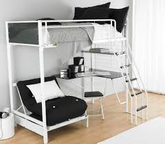 bunk bed with futon chair and desk home design ideas