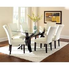 Dining Table Kit Dining Table Kit Silver Glass Top Dining Table In Espresso Cherry