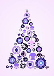 pine tree ornaments purple digital by anastasiya malakhova