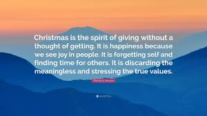 s monson quote is the spirit of giving without