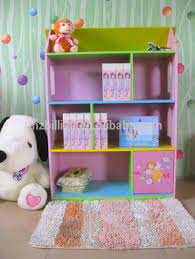 fashion and lovely fariy wooden kids dollhouse bookcase bedroom