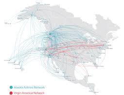 alaska air map alaska air buys america for 2 6b in loyaltylobby