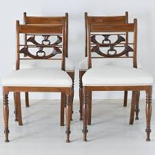 Regency Dining Table And Chairs Set Of Four English Regency Dining Chairs In Mahogany With