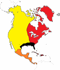 Map North America North America Political Outline Map Blank Map Of North America