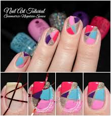 easy nail art tutorial for beginners geometric negative space