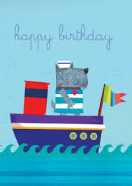 look at this sailing doggie a fun birthday card for your little