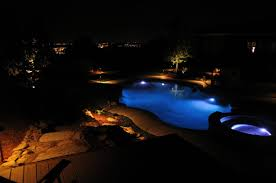 intellibrite landscape lights post night time pictures of your pool