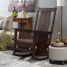 Wooden Rocking Chair Dimensions Belham Living Holden Modern Indoor Rocking Chair Upholstered