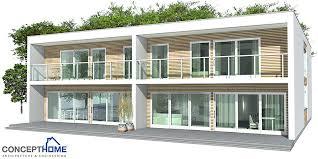 Simple Duplex House Plans Duplex House Ch160d In Contemporary Architecture