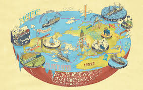 Maps Around The World by Here Be Dragons On Literary Cartography Los Angeles Review Of Books