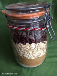 healthy holiday oatmeal cookie mix in a jar nutritionartist