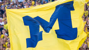 Blue White And Sun Flag Maize And Blue University Of Michigan