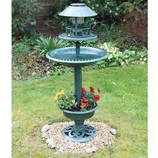 plastic resin free standing bird feeders ebay