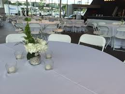 party rental atlanta white hercules chairs and 60 tables at the jim ellis audi