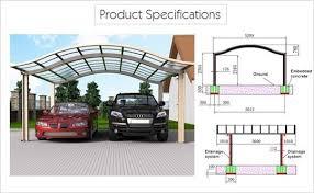 Car Port For Sale Prefab Carports Alu Carport Modern Car Shade Sunshield Shelter
