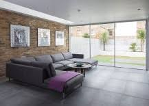 Gray Sofa In Living Room 100 Brick Wall Living Rooms That Inspire Your Design Creativity