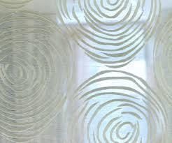 off white circles embroidery sheer poly linen 140 cm width