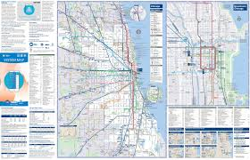 Map Of Cta Chicago by Chicago Transport Map
