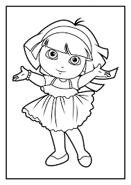 dora coloring pages for toddlers 17 best dora images on pinterest dora the explorer coloring pages
