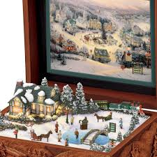 thomas kinkade halloween the thomas kinkade st nicholas circle music box hammacher schlemmer