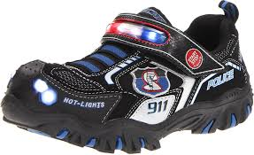 skechers light up shoes on off switch skechers boys damager police ii trainers black black black schwarz