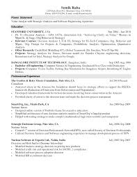 Resume Internship Objective Computer Science Co Op Resume Templates