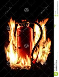 burning fire extinguisher stock photo image 46176990